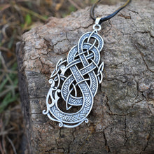 Load image into Gallery viewer, GUNGNEER Irish Celtic Knot Dragon Pendant Necklace Cross Wings Key Chain Jewelry Set Men Women