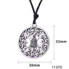 Load image into Gallery viewer, GUNGNEER Irish Celtic Knot Tree of Life Trinity Pendant Necklace Stainless Steel Jewelry Gift
