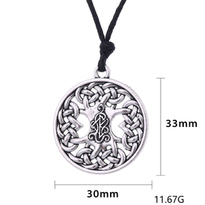 GUNGNEER Irish Celtic Knot Tree of Life Trinity Pendant Necklace Stainless Steel Jewelry Gift