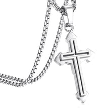 Load image into Gallery viewer, GUNGNEER Double Layer Christian Pendant Necklace Cross Jewelry Accessory Gift For Men Women