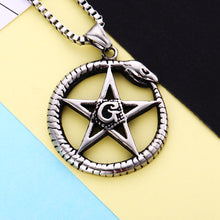 Load image into Gallery viewer, GUNGNEER Box Chain Masonic Necklace Freemason Pendant Accessories Jewelry For Men
