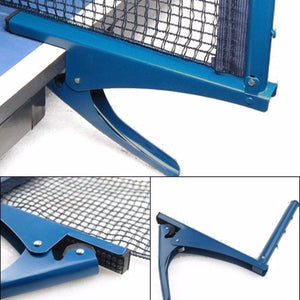 2TRIDENTS Table Tennis Net and Post Set - Suitable for Both Indoor and Outdoor Use - Ideal for Table Tennis Lovers
