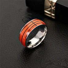 Load image into Gallery viewer, GUNGNEER Multicolor Basketball Ring Stainless Steel Sports Ring Jewelry For Men Boys