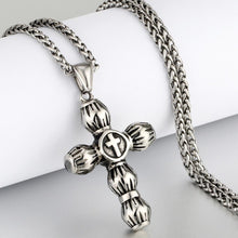 Load image into Gallery viewer, GUNGNEER Cross Necklace Stainless Steel Christ Pendant Chain Jewelry Gift For Men Women