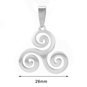 GUNGNEER Celtic Triskele Knot NecklaceTree of Life Key Chain Stainless Steel Jewelry Set