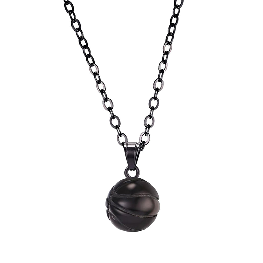 GUNGNEER Hip Hop Basketball Necklace Stainless Steel Sports Jewelry For Boys Girls