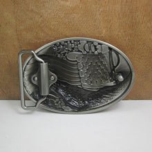 Load image into Gallery viewer, GUNGNEER Men Silvertone God Bless America Eagle Belt Buckle Patriotic Jewelry Accessories