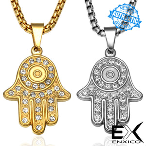 ENXICO Knights Templar Cross Pendant Necklace ? 316L Stainless Steel ? Christian Jewelry (Gold)