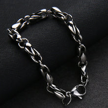 Load image into Gallery viewer, GUNGNEER Stainless Steel Freemason Masonic Signet Ring Silvertone Chain Bracelet Jewelry Set Men
