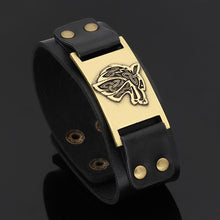 Load image into Gallery viewer, GUNGNEER Anubis Ankh Cross Necklace Fox Wolf Charm Wristband Bracelet Egyptian Jewelry Set