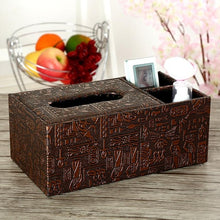 Load image into Gallery viewer, 2TRIDENTS Tissue Box Cover Home Car Desk Organizer Holder Makeup Cosmetic Storage Box Napkin Paper Container Floral Room (1)