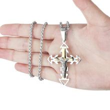 Load image into Gallery viewer, GUNGNEER Cross Necklace Christian Pendant Pray Jewelry Accessory Outfit For Men Women