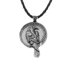 Load image into Gallery viewer, GUNGNEER Celtic Knot Viking Raven Pendant Necklace Rope Chain Jewelry Accessories for Men Women