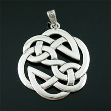 Load image into Gallery viewer, GUNGNEER Celtic Knots Triquetra Silver Stainless Steel Amulet Charm Pendant Jewelry Men Women
