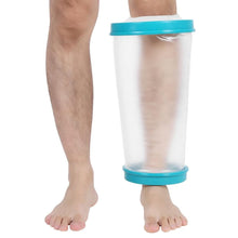 Load image into Gallery viewer, 2TRIDENTS Wound Leg Cast Protector Water Proof Shower Bandage for Broken Leg Knee Watertight Protection (Knee)