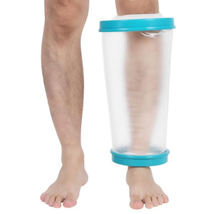 2TRIDENTS Wound Leg Cast Protector Water Proof Shower Bandage for Broken Leg Knee Watertight Protection (Knee)
