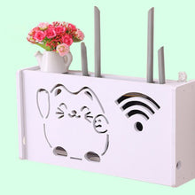 Load image into Gallery viewer, 2TRIDENTS Wooden WiFi Router Storage Box - Waterproof Moistureproof Organizer Wall Mount Storage Box (S, 1)