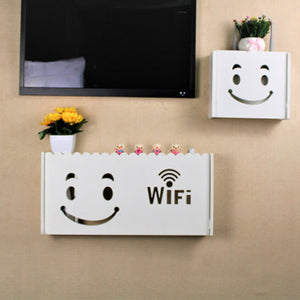 2TRIDENTS WiFi Router Storage Box Wall Mount - Waterproof Moistureproof - Family Friendly and Environment Friendly (L)