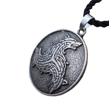 Load image into Gallery viewer, GUNGNEER Celtic Triskele Viking Wolf Amulet Pendant Necklace Stainless Steel Jewelry Men Women