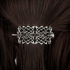 GUNGNEER Irish Celtic Knot Trinity Hair Pin Stick Brooch Jewelry Accessories for Men Women