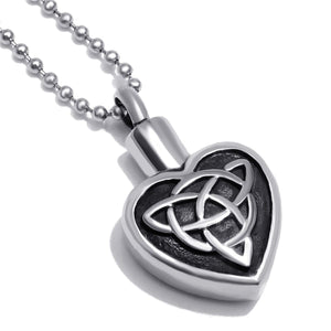 GUNGNEER Celtic Knot Cross Trinity Infinity Pendant Necklace Stainless Steel Jewelry