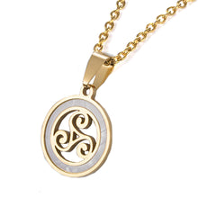Load image into Gallery viewer, GUNGNEER Triskele Triskelion Alliso Trinity Stainless Steel Pendant Necklace Jewelry Men Women