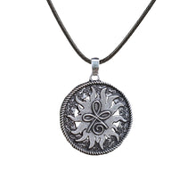 Load image into Gallery viewer, GUNGNEER Round Celtic Knot Symbol Strength Pendant Necklace Stainless Steel Jewelry Men Women
