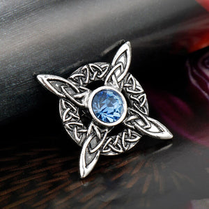 GUNGNEER Celtic Irish Triquetra Knot Hair Pin Brooch Jewelry Accessories for Men Women