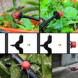 2TRIDENTS Adjustable Watering Sprinklers Garden Water Emitter Ideal Irrigation System Anti Clogging Emitter (100 pcs)