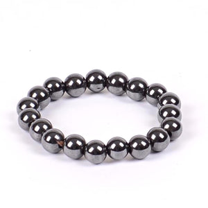 HoliStone Hematite Stone Beads Bracelet ? Anxiety Stress Relief Yoga Beads Bracelets Chakra Healing Crystal Bracelet for Women and Men