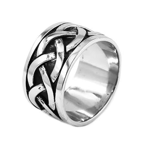 ENXICO Cross Ring with Triquetra Celtic Knot Pattern ? 316L Stainless Steel ? Irish Celtic Jewelry (10)