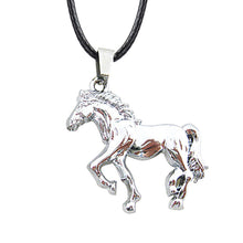 Load image into Gallery viewer, ENXICO Walking Horse Charm Pendant Necklace ? Animal Spirit Symbol Jewelry ? Best Gift for Horse Lover (Grey)