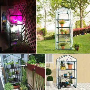 2TRIDENTS Mini Greenhouse Cover - 4 Levels - Waterproof Anti-UV Protect Garden Plants Flowers Outdoor (Without Iron Stand)