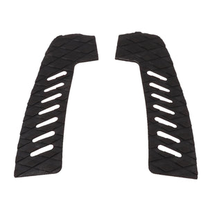 2TRIDENTS Set of 3 Pieces Surfboard Traction Stomp Pads for Surfboard Shortboard Longboard Skimboard (Black)