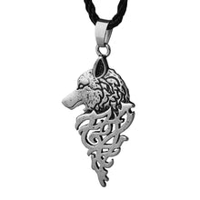 Load image into Gallery viewer, ENXICO Fenrir Wolf Amulet Pendant Necklace ? Gold Color ? Norse Scandinavia Viking Jewelry