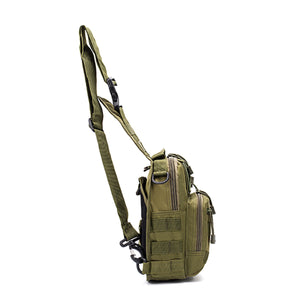 2TRIDENTS 600D Oxford Fabric Military Shoulder Bag - Suitable for Trekking, Hiking, Climbing, Camping, Running and Other Outdoor Activities (1)