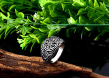 Load image into Gallery viewer, ENXICO The Kolowrat Slavic Sun Wheel Ring ? 316L Stainless Steel ? Ancient Slavic Jewelry (10)