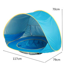 Load image into Gallery viewer, 2TRIDENTS Baby Kids Beach Tent - Pop Up Portable Shade Pool, UV Protection - Sun Shelters Shade for Infant Baby
