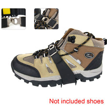Load image into Gallery viewer, 2TRIDENTS 4-Teeth Traction Cleats for Snow, Hiking, Jogging, Climbing and Mud - Ideal for All Shoes, Boots, Sneakers, Sandals and Loafers