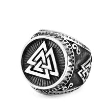 Load image into Gallery viewer, ENXICO Odin's Symbol The Valknut Ring ? 316L Stainless Steel ? Norse Scandinavian Viking Jewelry