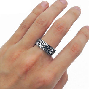 ENXICO Square Celtic Knot Ring ? 316L Stainless Steel ? Irish Celtic Jewelry (10)