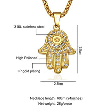Load image into Gallery viewer, ENXICO Knights Templar Cross Pendant Necklace ? 316L Stainless Steel ? Christian Jewelry (Gold)