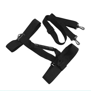 2TRIDENTS Underwater Scuba Diving Tank Carrier with Shoulder Strap - Fully Adjustable Holder Strap to Fit Almost Sizes of Cylinder (Black)