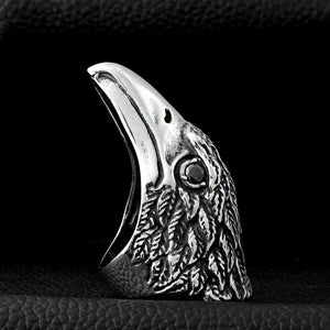 ENXICO Eagle Head Ring ? 316L Stainless Steel ? Animal Spirit Totem Jewelry