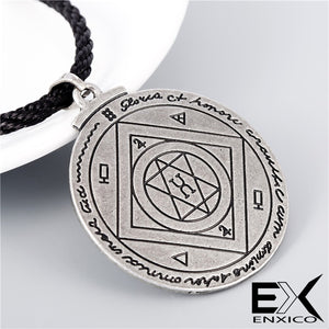 ENXICO The Great Pentacle Key of Solomon Amulet Pendant Necklace