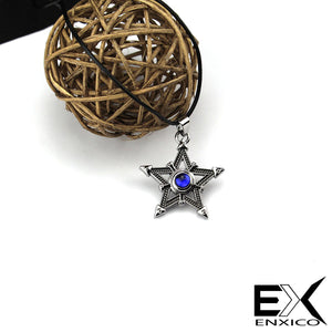 ENXICO Tetragrammaton Pentagram Pendant Necklace ? Silver Color ? Wicca Pagan Witchcraft Jewelry