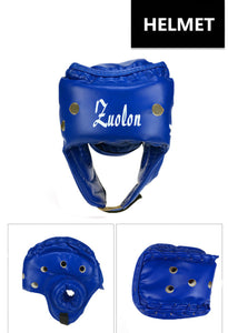 2TRIDENTS Boxing Helmet - Training Protector Guard for Fight, Muay Thai, Boxeo, MMA, Taekwondo and Other Sports (L, Blue)