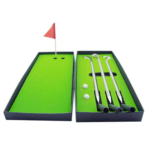 2TRIDENTS 1 Set of Golf Accessories with Box - Mini Portable Golf Set for Indoor Outdoor Training Practice