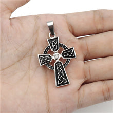 Load image into Gallery viewer, ENXICO Celtic Cross Charm Pendant Necklace for Women & Men ? Pewter ? Irish Celtic Jewelry