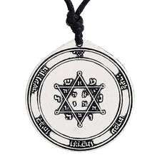 Load image into Gallery viewer, ENXICO Second Pentacle of Jupiter Seal of Solomon Talisman Pendant Necklace ? Silver Color